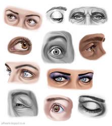 Eye studies by JeffSearle