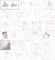 Moukemono: Paintchat Dump by kitten-chan