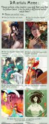 dA Artists Meme by DragonfaeryYume