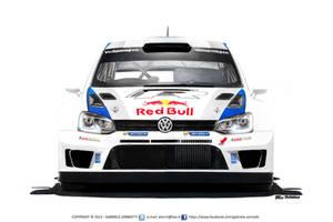 Volkswagen Polo R WRC - Red Bull (2013) by gabrielezannotti