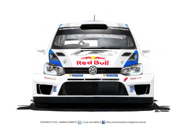 Volkswagen Polo R WRC - Red Bull (2013) by gabrielezannotti