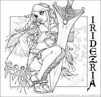 Iridezria - Line Art by MichelleHoefener