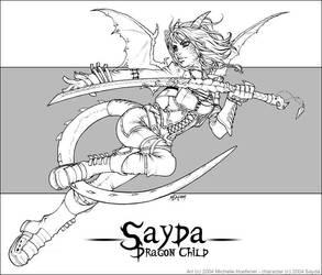 Sayda - Line Art by MichelleHoefener