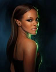 Rihanna Portrait by MichelleHoefener