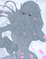 D Va - Line Art by MichelleHoefener