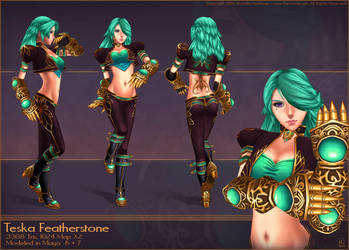 Teska Featherstone - 3D Model by MichelleHoefener