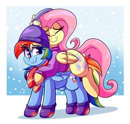 Pegasus Snuggles by GrapheneDraws