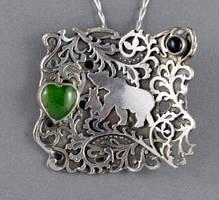 Bear and its cub pendant by nataliakhon
