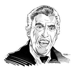 Dracula - Christopher Lee by 93Cobra