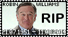 R.I.P. Robin Williams Stamp by poserfan