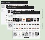 Stylish B/W Gallery CSS Vol.1 by poserfan
