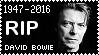R.I.P. David Bowie Stamp by poserfan