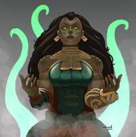 Illaoi, the Kraken Priestess by DandDurand
