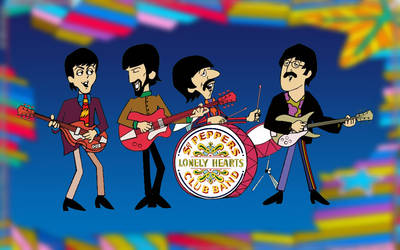 Beatles Cartoon Yellow Submarine by Corrosive0
