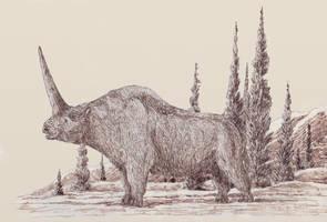 Elasmotherium by Leogon