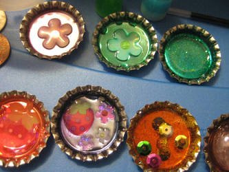 Bottlecap Magnets :3 by Misstymountains