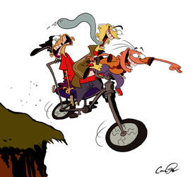 Risky Bike Ride by Camriko