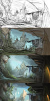 Making of 'mountain view' by Bezduch