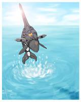 Orca Zoid concept art by Menitti