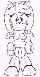 MegaRose Armor redesign: Lineart by Sceptilianblade