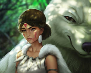 Princess Mononoke by WeijiC
