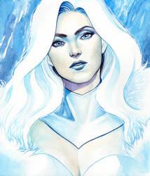 Emma Frost Portrait by WeijiC