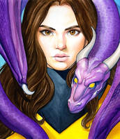 Kitty Pryde and Lockheed Portrait by WeijiC