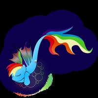 Rainbowdash is a LAZY seapony by zomgitsalaura