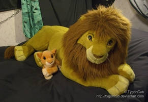 Douglas Cuddle Toy Simba and Mattel Kiara by TygonCub
