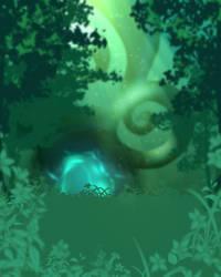 Free Background - Emerald Dream by MischiArt