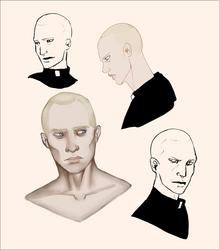 Face studies   Father Lazare by MoonlitAlien