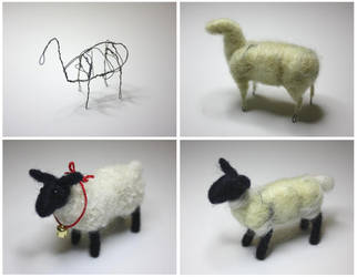 Needle felted sheep by gaernavi