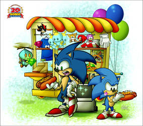 Happy 20th Anniversary Sonic by ElectricDawgy