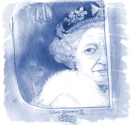 Queen Elizabeth II by ElectricDawgy