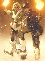 Indiana Jones card for TOPPS by AdamHughes