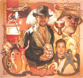 Indiana Jones Puzzle Card by AdamHughes