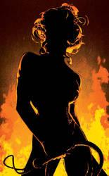 Black Queen Silhouette by AdamHughes