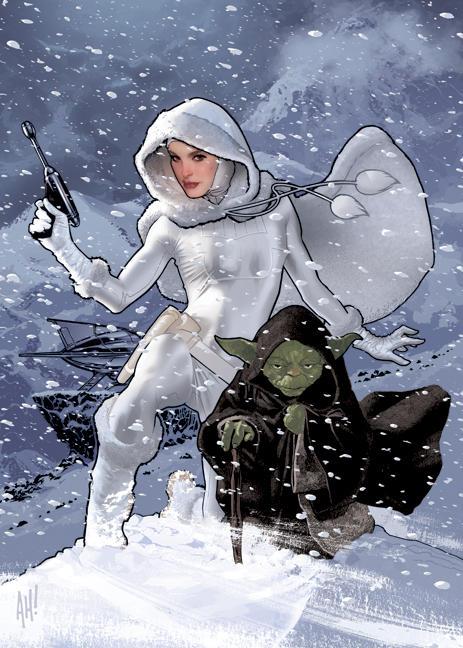 Snowbunny Padme and Yoda by AdamHughes