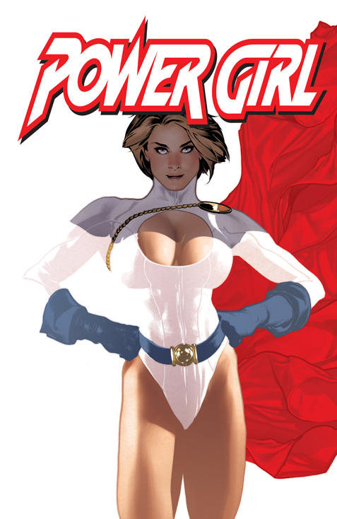 Power Girl Issue 2 Cover by AdamHughes