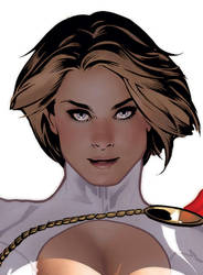 Power Girl 2 Detail by AdamHughes