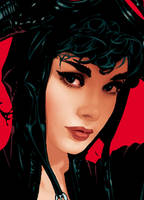 Catwoman 70 Cover Detail by AdamHughes