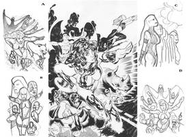 Teen Titans Lineart by AdamHughes
