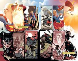 Batgirl And Supergirl Fullsize by AdamHughes