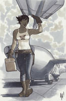 Maggie The Mechanic by AdamHughes