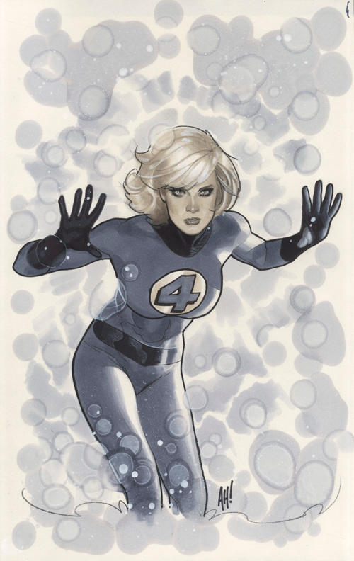 Invisible Woman Auction Art by AdamHughes