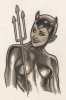 COPIC Devil Girl by AdamHughes