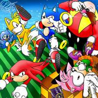 Classic Sonic Team by QT-Star