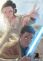 Star Wars The Force Awakens fanart - Finn and  Rey by viniciusdesouza