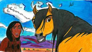 Spirit - Stallion of the Cimarron by Annzig