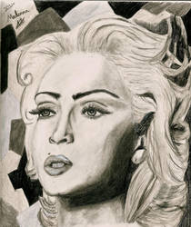 Madonna Drawing by Annzig